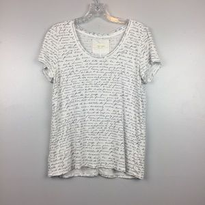 Anthropologie Pure + Good Cursive Print Top | S